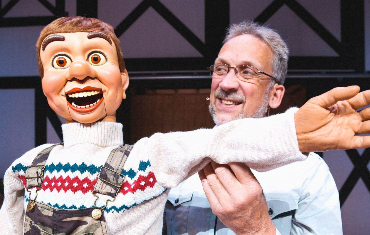 A ventriloquist at the Amish Country Theater