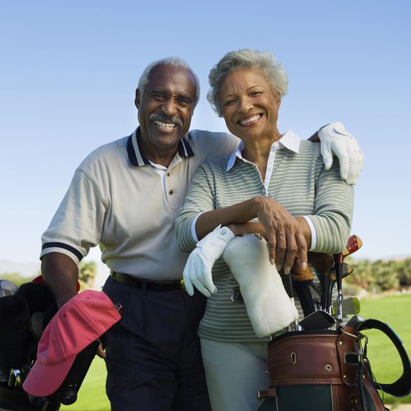 senior couple golfing in Berlin, Ohio