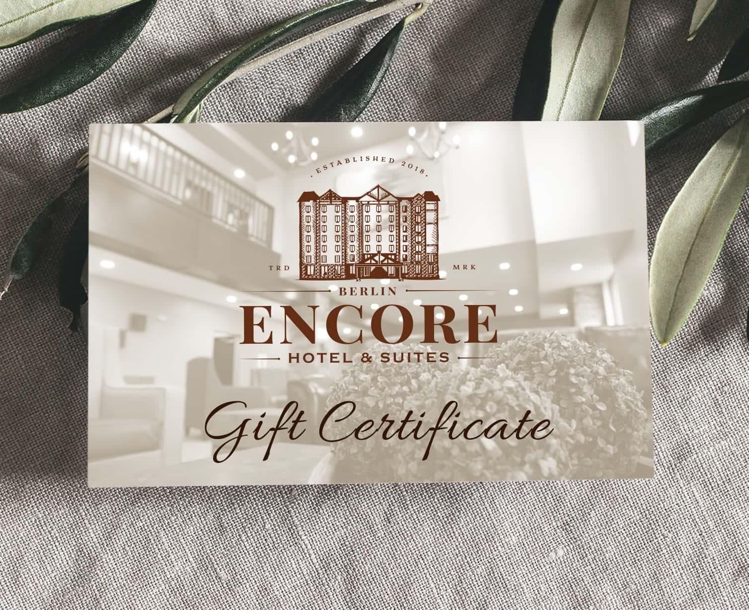 Berlin Encore Hotel Gift Certificate