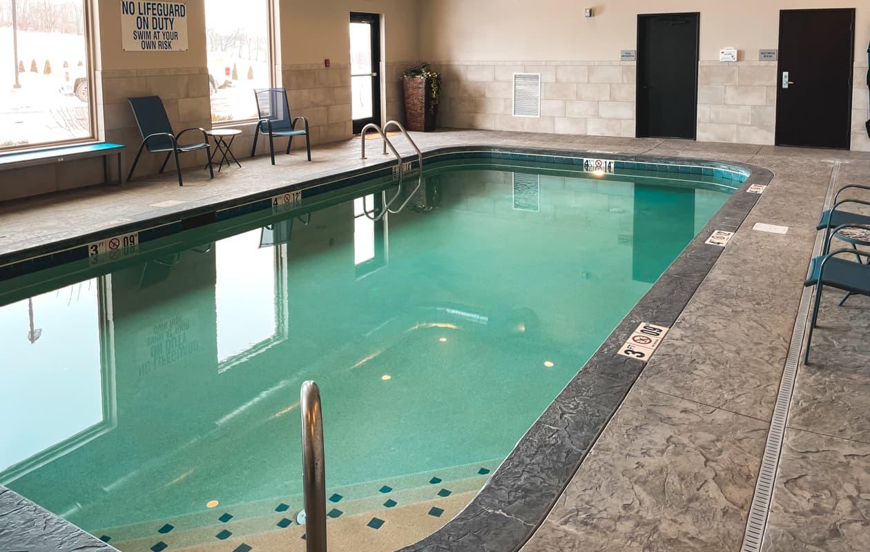 Indoor swimming pool at Berlin Encore Hotel